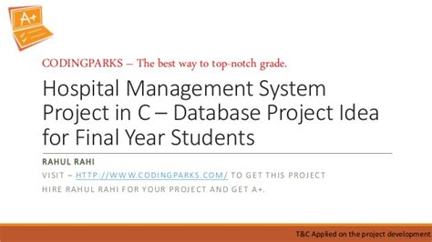 Mba Hospital Administration Projects by Hospital Management System Project In C Database Project