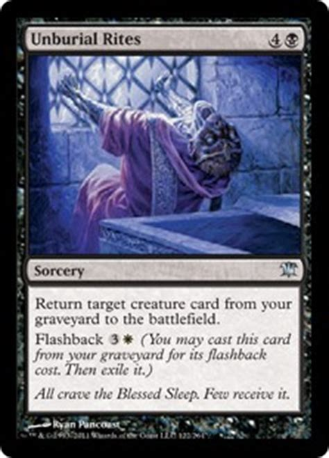 Bw Blue Wizards unburial rites innistrad gatherer magic the gathering