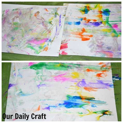 Marbled Paper Craft - marbled paintings with our daily craft