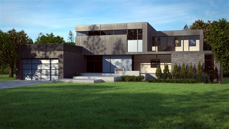 modern houes cgarchitect professional 3d architectural visualization