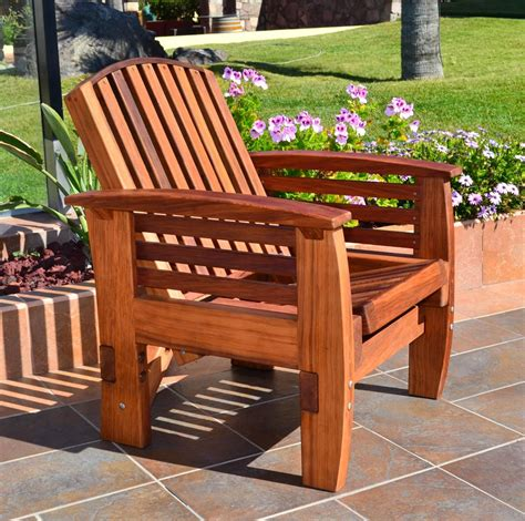 Sitout Chairs - reclining redwood easy chair outdoor wood recliners