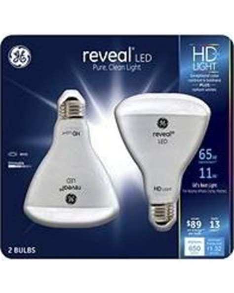 Spring Savings On Ge Reveal Hd 65w Led Br30 Light Bulbs 2 Ge Reveal Led Light Bulbs