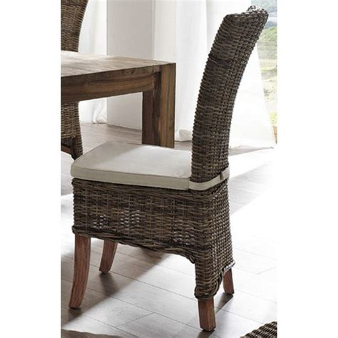 indoor rattan chairs uk halifax salsa kubu rattan dining chair with cushion