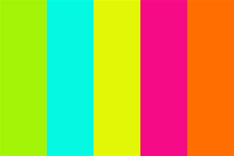 how is in color fluo color color palette