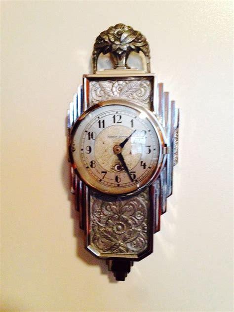 amazing wall clocks amazing manning bowman chrome art deco wall clock clock
