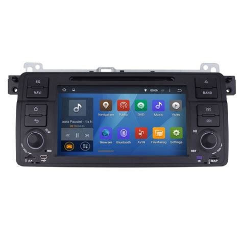 android 4 4 car stereo 1 din in dash car dvd player for bmw e46 android 4 4 car radio audio stereo 1024 600 hd built in