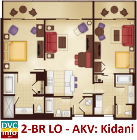 animal kingdom lodge 2 bedroom villa floor plan disney s animal kingdom villas dvcinfo