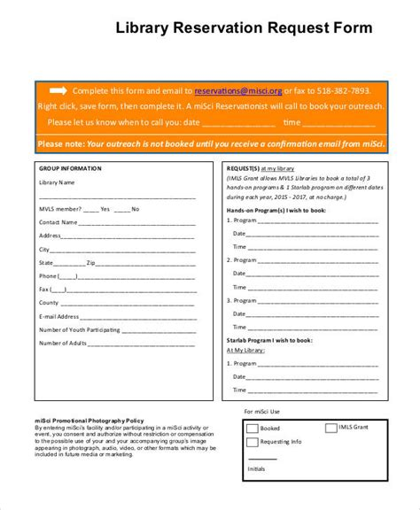 booking request form template 30 reservation forms in pdf