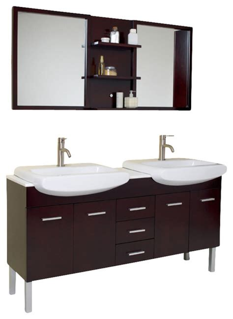 Bathroom Vanities 59 Inches by 59 Inch Espresso Modern Sink Bathroom Vanity