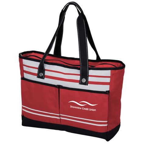 Mini Tote Ready Bonia striped bonita tote item no 138666 from only 4 59 ready to be imprinted by 4imprint