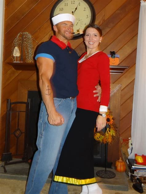 Similiar homemade olive oil costume keywords this popeye shirt is easy popeye olive oyl costumes solutioingenieria Image collections