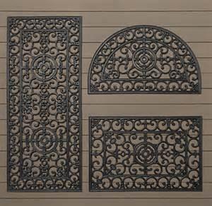 Half Round Doormat Fleur De Lys Rubber Doormat