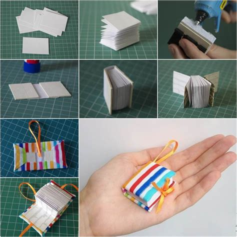 Handmade Diary Ideas - wonderful diy mini diary book keychain