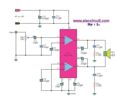 integrated circuit for lifier small bridge lifier circuit diagram electronic projects circuits