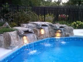 pool waterfalls 10 inground pool waterfalls ls waterfalls