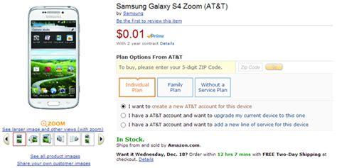 deal buy samsung galaxy  zoom  att