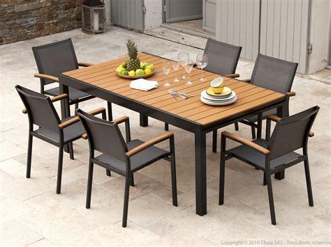 Table De Jardin Aluminium Et Composite