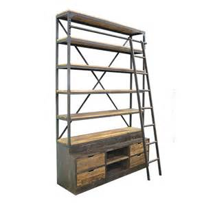 Cheap Beach Home Decor industrial bookcase with ladder urban amp beach lifestyle