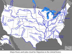United States Major River Systems Map by Major Rivers Of The United States Know It All