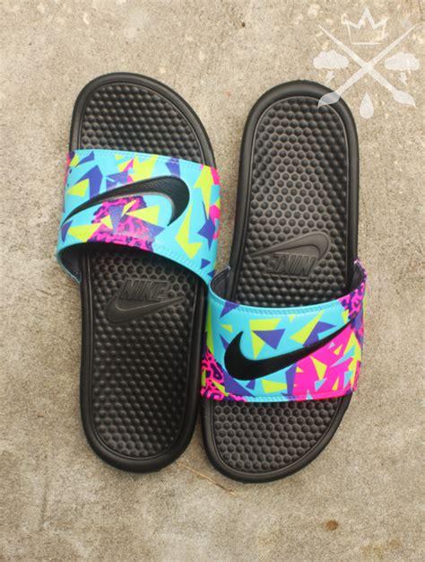 custom slide sandals nike custom bel air 5 fresh prince benassi swoosh