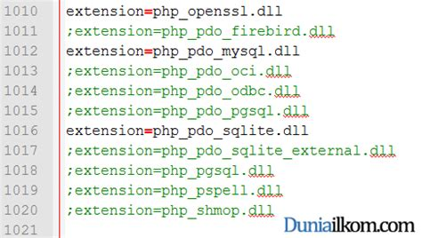tutorial php ini pengertian pdo dan cara mengaktifkan pdo php data objects