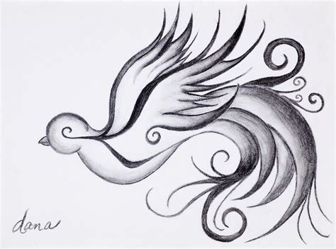 swirly sparrow drawing by dana strotheide