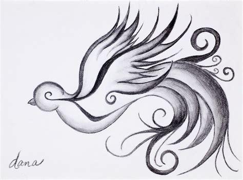 swirly sparrow drawing by dana strotheide