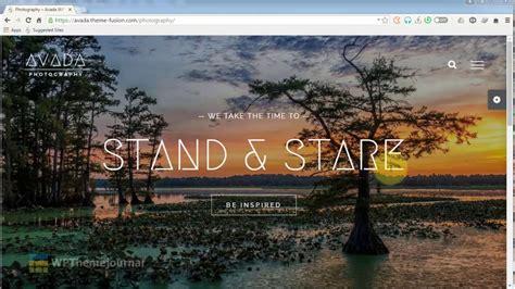 Avada Theme For Photographers | avada photography theme wordpress theme youtube