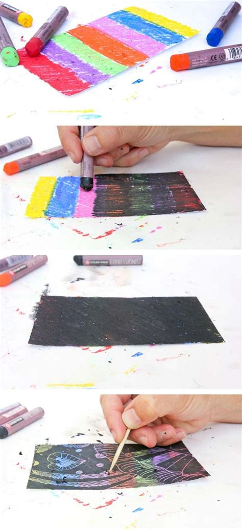 Make Your Own Scratch Paper - instant scratch pastel paper and make your