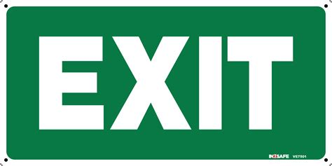 Exit A exit sign green with white letters