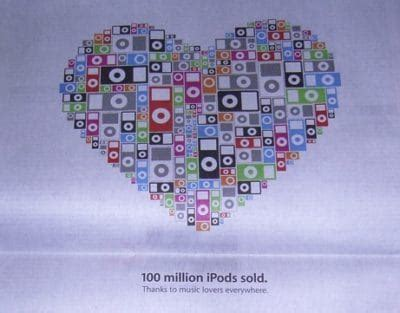 100 Million Ipods Sold by Today In Apple History Apple Sells Its 100 Millionth Ipod
