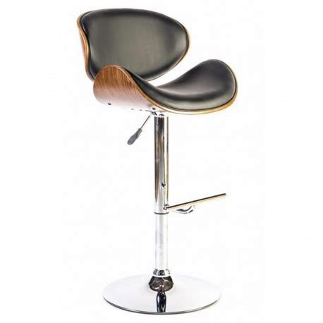 chaise haute design avec dossier en bois pour mange debout  bureau leysha
