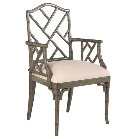 chippendale chairs chinese chippendale hollywood regency grey bamboo dining arm chair kathy kuo home