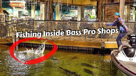 fishing boat bass pro shop caught a bass inside bass pro shops pyramid ft bill