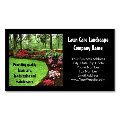 lawn care business cards templates free 209 best lawn care business cards images on