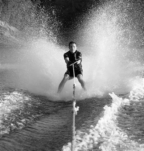 1 year water skiing barefoot skiing