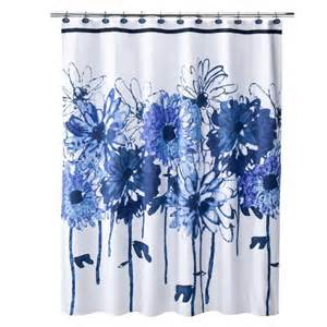 Blue And White Shower Curtains Floral Shower Curtain White Blue Target