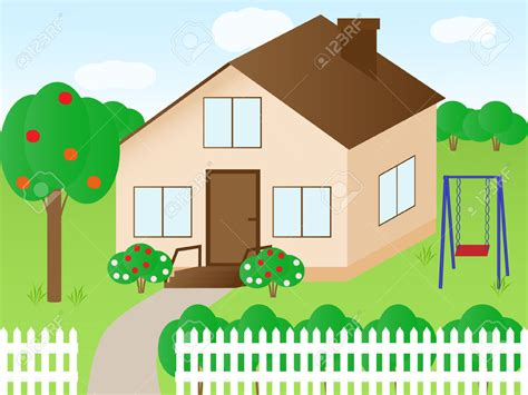 backyard clip art house clipart yard pencil and in color house clipart yard