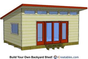 16x20 modern studio shed shed plans way to build