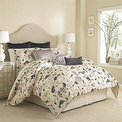cream king comforter buy charisma eve king comforter set in ink blue cream from