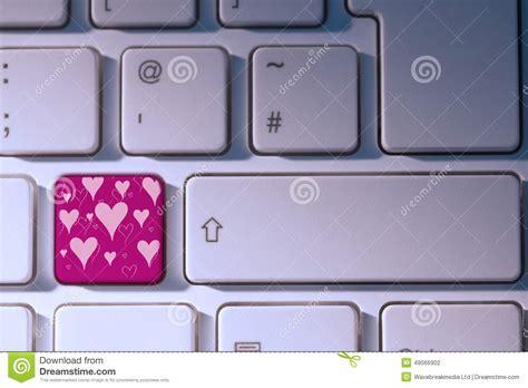 password keystroke pattern composite image of valentines day pattern stock image
