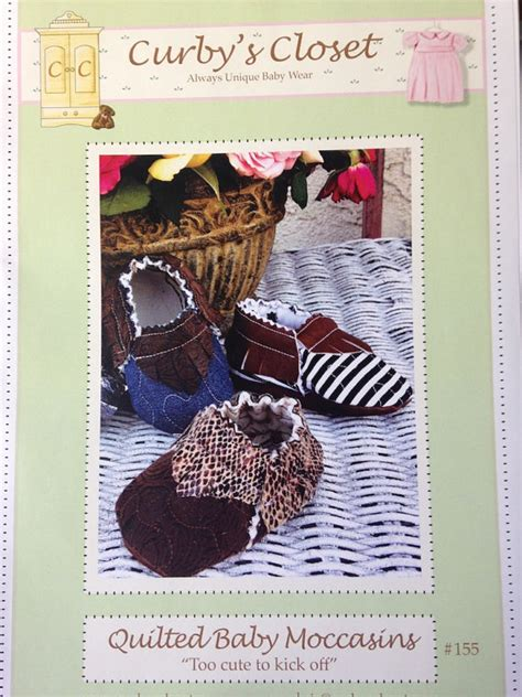 etsy moccasin pattern new quilted baby shoe moccasin pattern new by curbyscloset