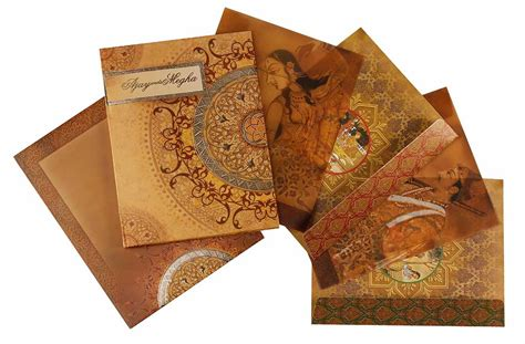 Indian Wedding Cards by Royal Indian Wedding Card With Traditional Paintings