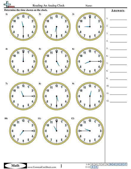 printable clock worksheets grade 3 3rd grade clock worksheets worksheets for all download
