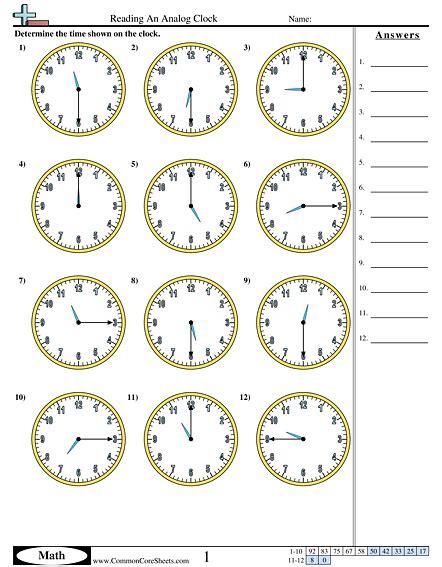 clock worksheet nearest minute time worksheets 187 time worksheets nearest minute free