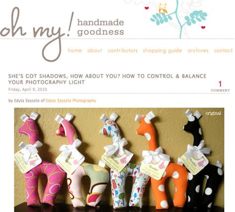 my 2nd guest post at oh my handmade goodness edyta