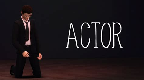 actor sims 4 the sims 4 actor animations preview youtube