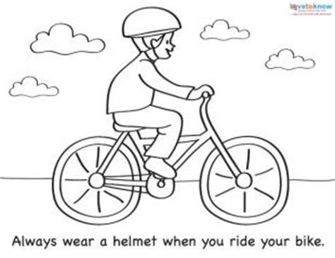 bicycle coloring pages preschool coloring sheets for summer safety lovetoknow