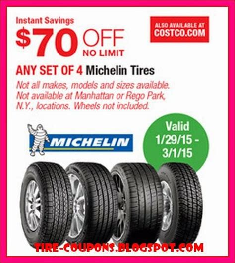 michelin tire rebate michelin rebates 2017 mega deals and coupons
