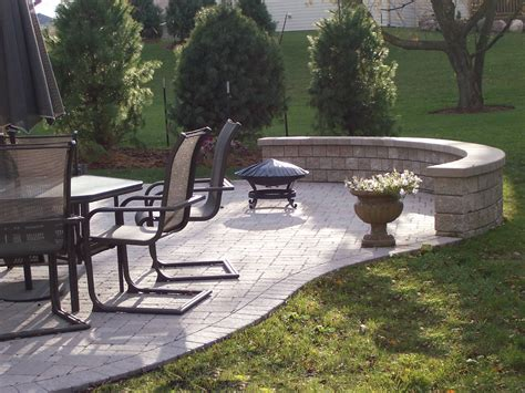Paver Patio With Retaining Wall Columbus Oh Paver Patios Columbus Decks Porches And Patios By Archadeck